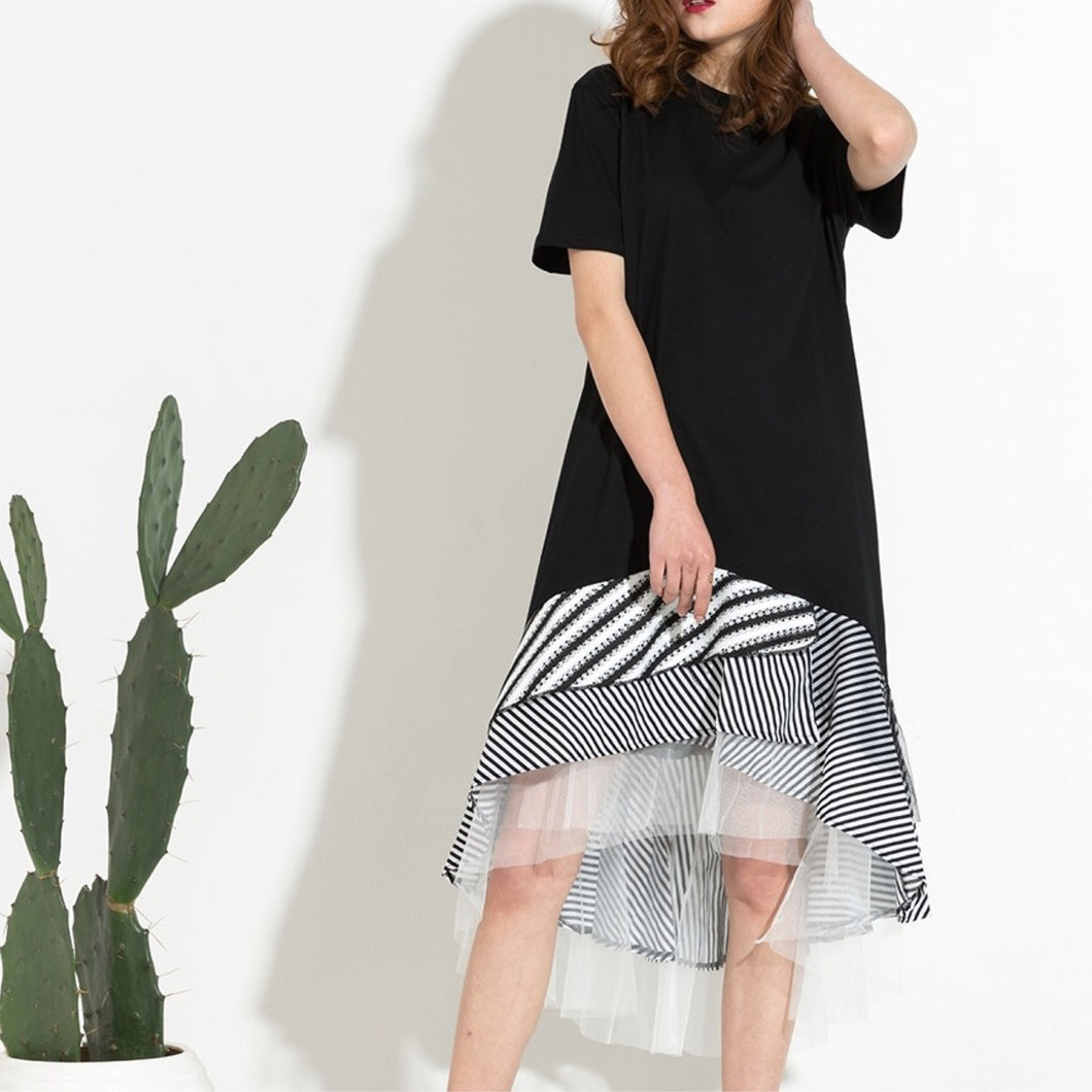 STANTON TULLE HEM T-SHIRT DRESS