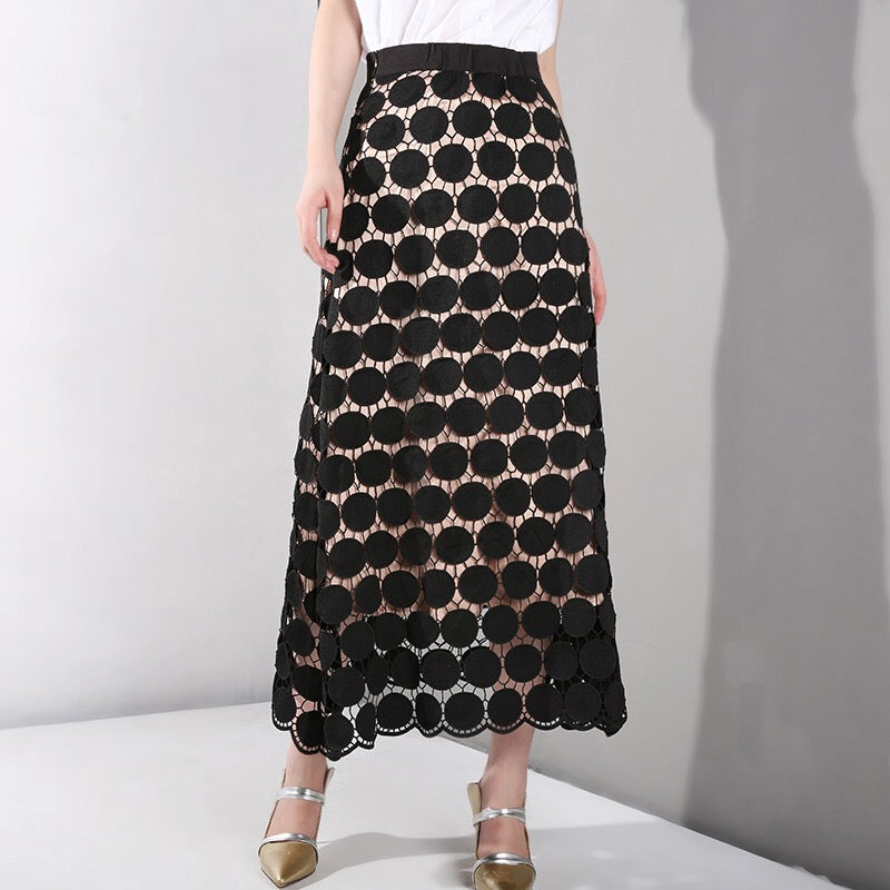 RUSHTON LACE SKIRT