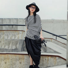 MALONE ASYMMETRIC STRIPE SHIRT