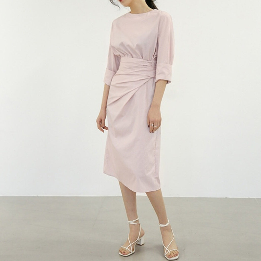 COLE RUCHED WAIST DRESS