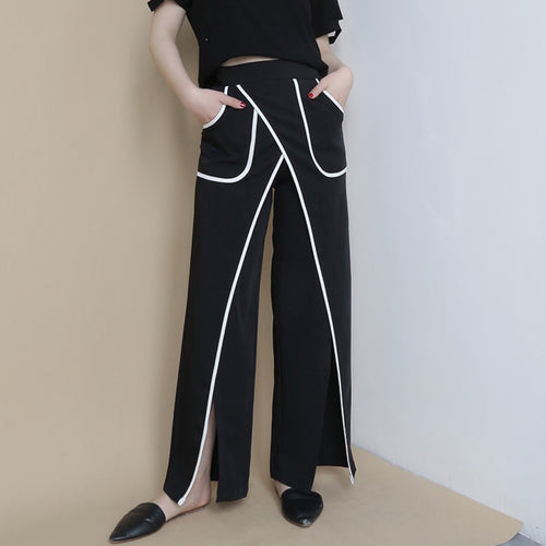 WELLS HIGH WAIST SLIT PANTS