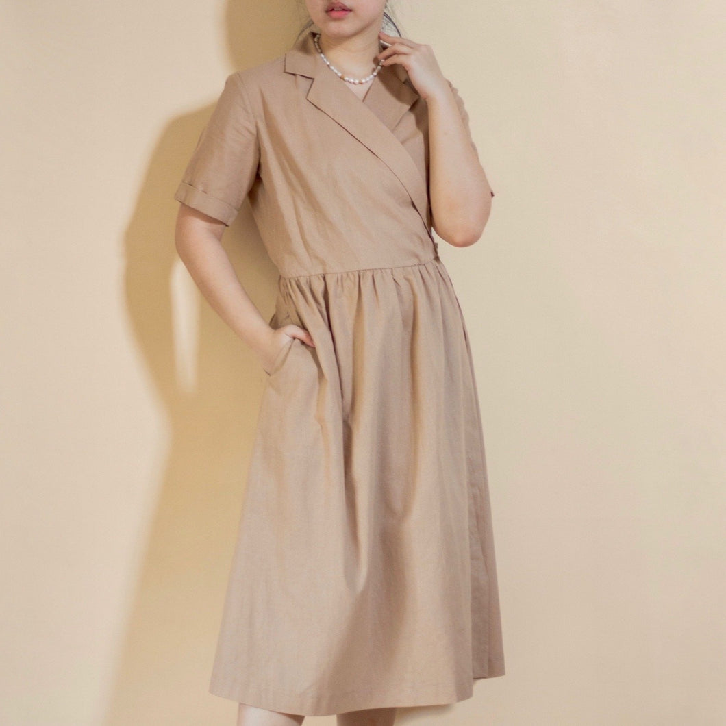 FERRE LINEN WRAP DRESS