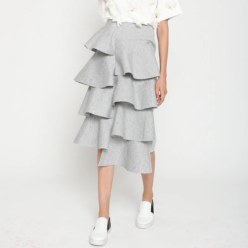 GALLE TIERED RUFFLE SKIRT