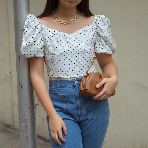 LILLE POLKA DOT CROP TOP