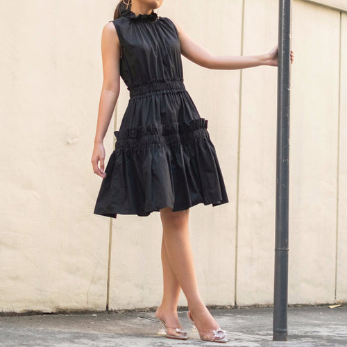 NEWEL RUFFLE TIER DRESS