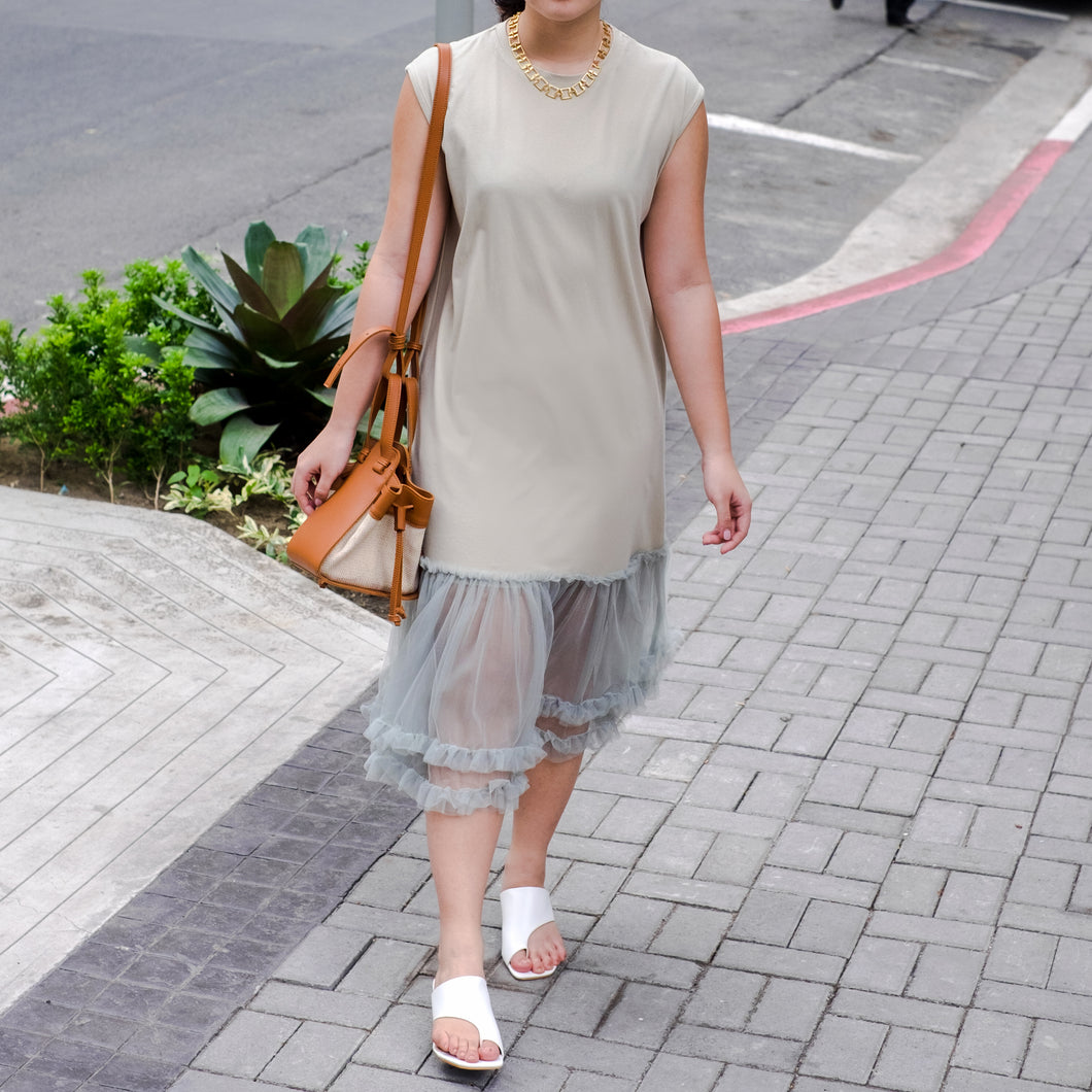 CERES TULLE HEM DRESS