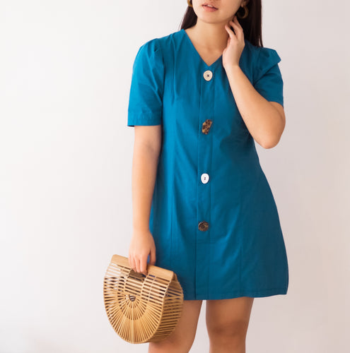 DESINA PUFF SLEEVE DRESS