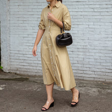 CULVER MIDI SHIRTDRESS