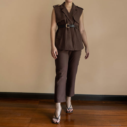 Terrin Belted Vest and Pants Set