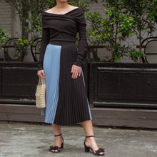 TADE TWO TONE PLEAT SKIRT