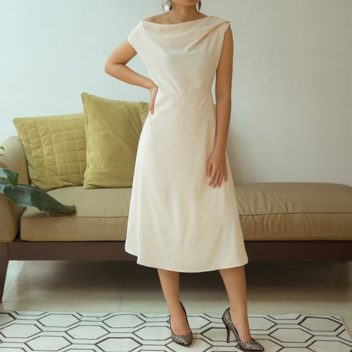 CHELSEA COWL NECK DRESS