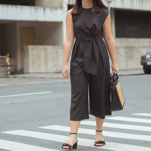 TAMARA WIDE LEG CROP JUMPSUIT