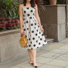 OREN POLKA DOT MIDI DRESS