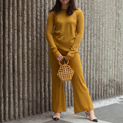 HALLEN KNIT TOP AND PANTS SET