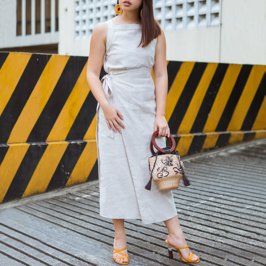ARION MIDI DRESS (LINEN BLEND)