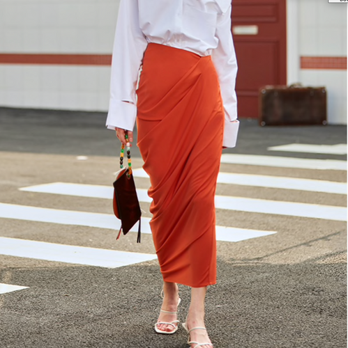 LEWIS RUCHED MAXI SKIRT