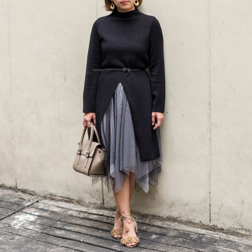 DAUPHINE KNIT TUNIC AND TULLE SKIRT SET
