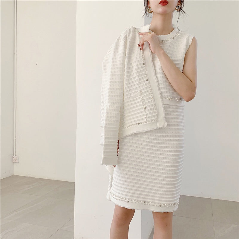 MINKA CARDIGAN AND DRESS SET