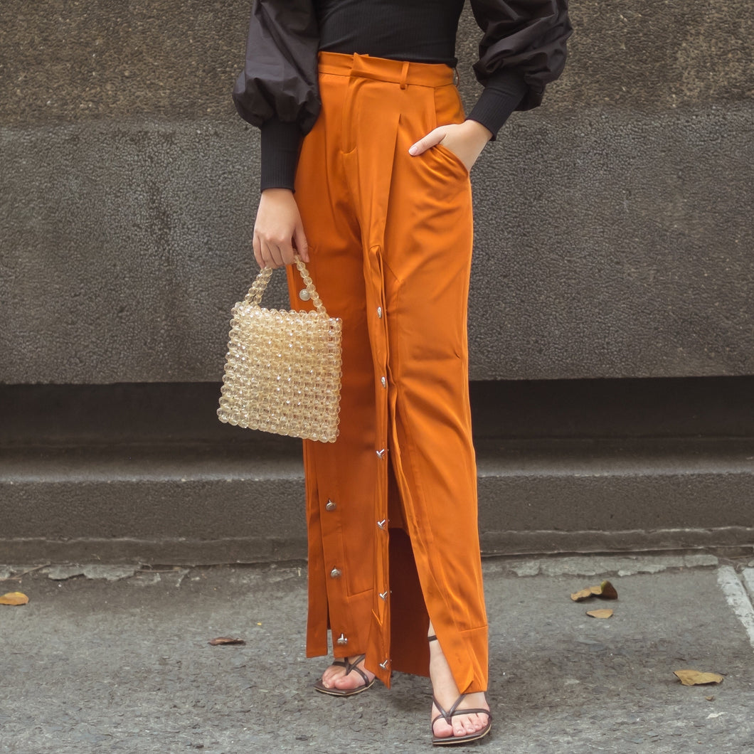 NOLA SPLIT FRONT WIDE LEG PANTS