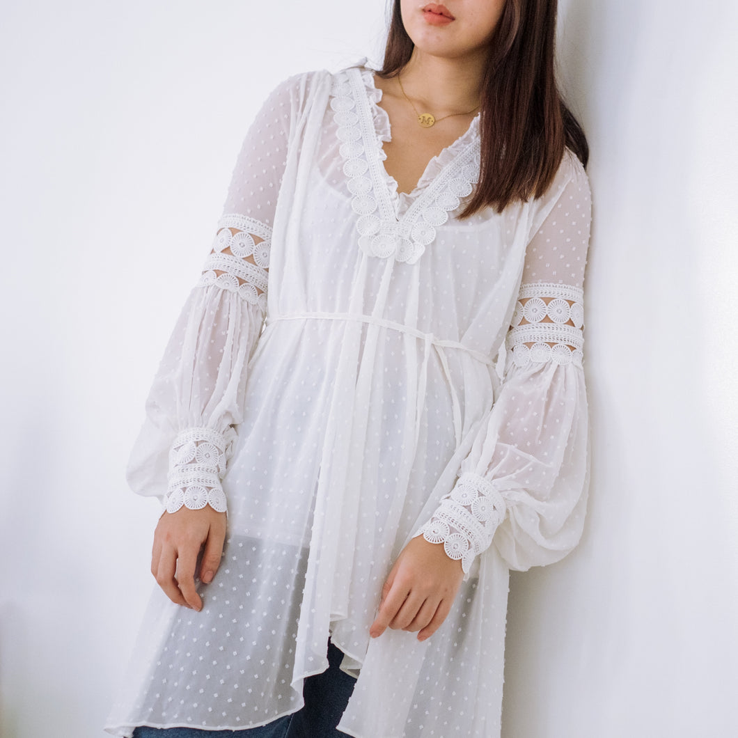 ZINNIA SHEER TUNIC SHIRT