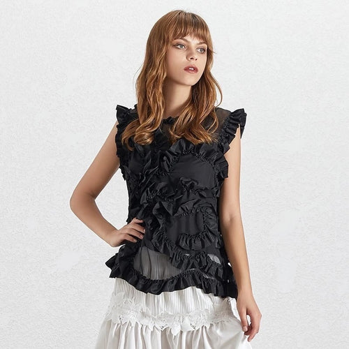 WATTS RUFFLED TOP