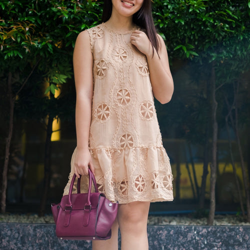 RIOS CUTOUT LACE MINI DRESS