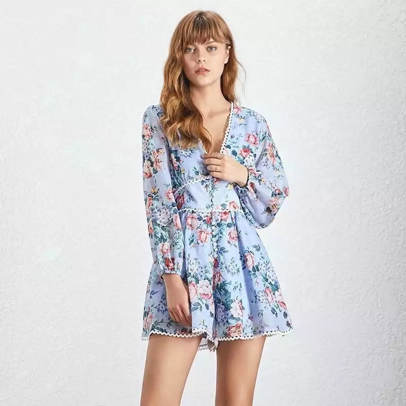 MORGAN FLORAL PLAYSUIT