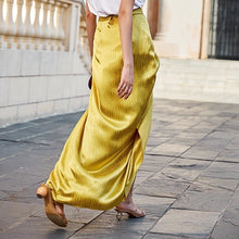 FORIO SATIN WRAP SKIRT