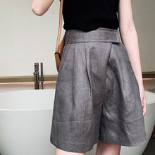 MELTON PLEAT FRONT LINEN SHORTS