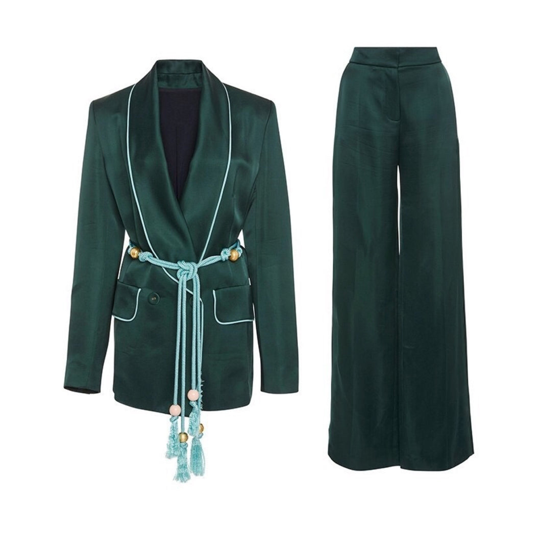 PIPER  BLAZER AND PANTS SET (GREEN)