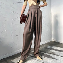 MELTON PLEAT FRONT PANTS