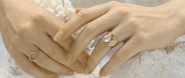 Rose Quartz Rose Gold Ring