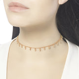 Cascabel Rose Gold Bell Choker Necklace