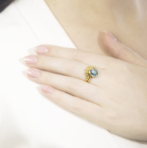 Indo Gold Halo Nesting Ring