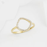 Aro Infinity White Topaz and Gold Ring