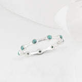 Aura Turquoise & Silver Eternity Ring Band