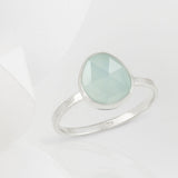 Austra Silver and Aquamarine Stone Ring