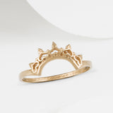 Indo Rose Gold Halo Nesting Ring