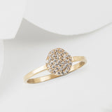 Cielo Rose Gold Pave Organic White Topaz Ring