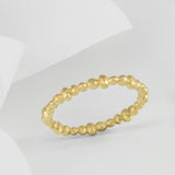 Perla Gold Molten Stacking Ring