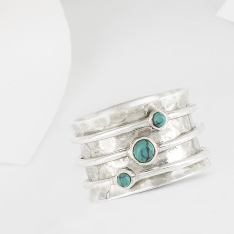 Eris Silver and Turquoise Spinning Ring
