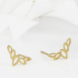 Flor Gold Olive Leaf Stud Earrings