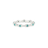 Aura Turquoise and Silver Eternity Ring Band