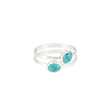 Azul Silver and Turquoise Earrings, Ring & Bangle Set