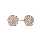 Cielo Silver Pave Organic White Topaz Earrings
