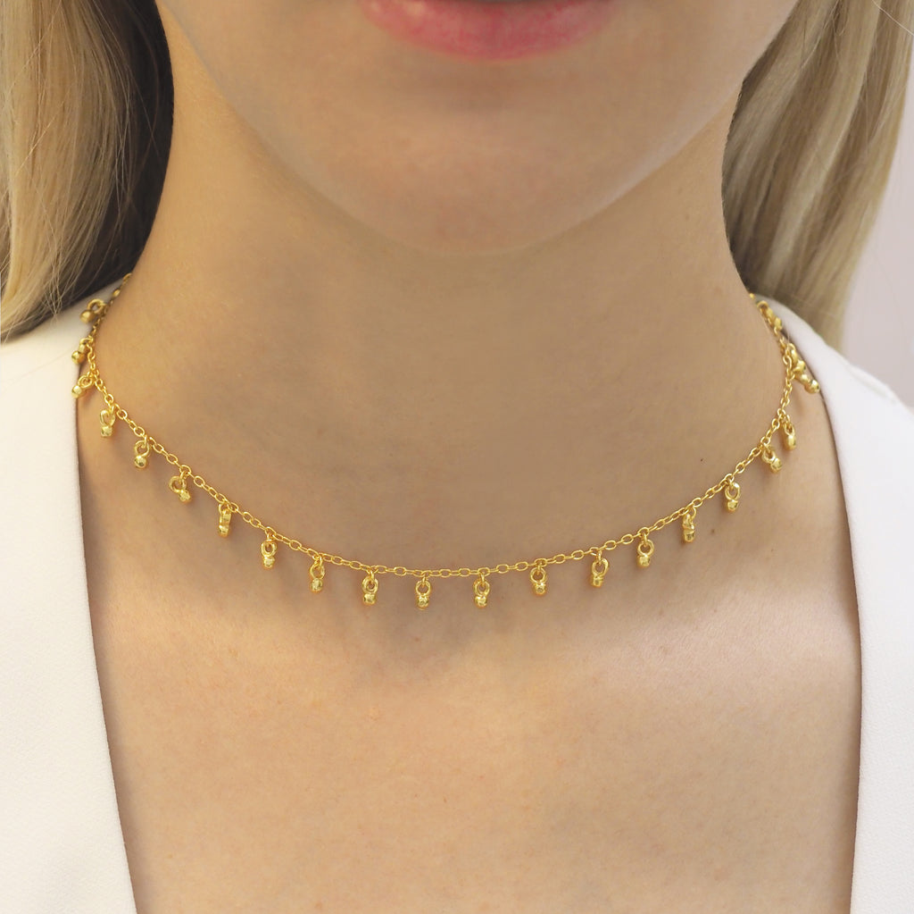 Cascabel Gold Bell Choker Necklace