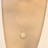 Solas Molten Gold Sun Necklace