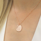 Austra Molten Rose Gold Disk Necklace