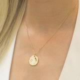 Austra Molten Gold Disk Necklace