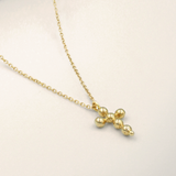 Sigma • Golden Nugget Mini Cross Necklace